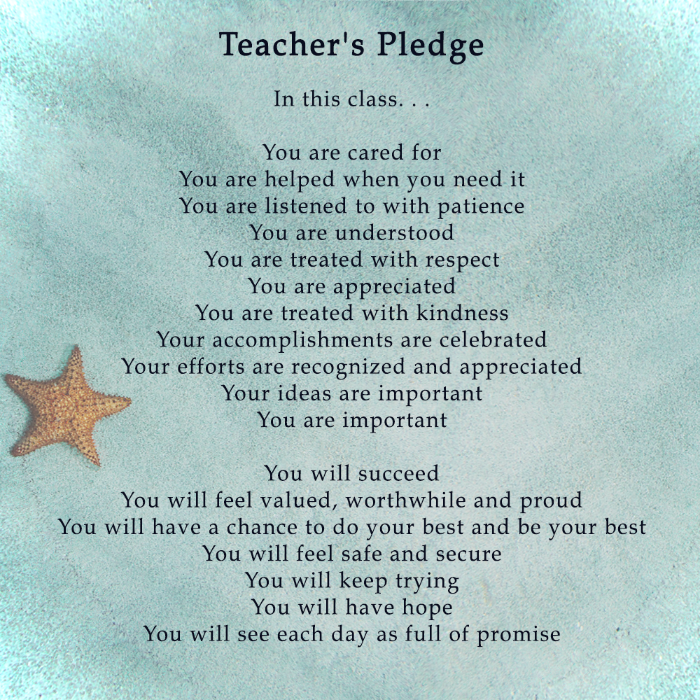 a teacher's pledge
